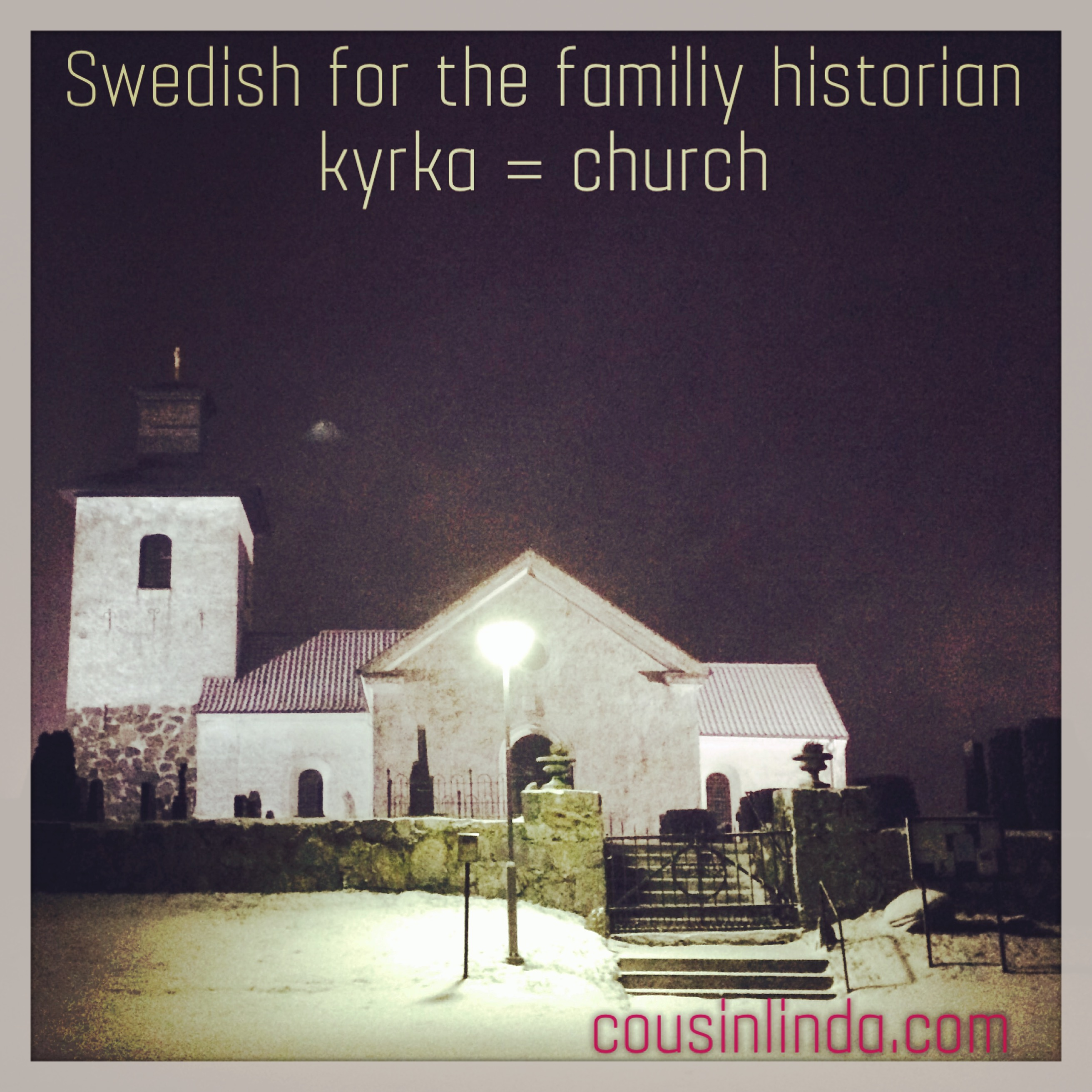 Swedish for the family historian: kyrka - church
